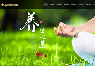 响应式经络养生健康类网站织梦模板HTML5养生会所