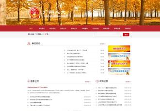 政府行政部门事业单位商会协会类网站织梦模板