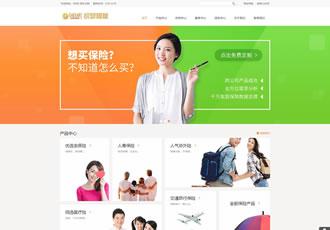 响应式财富管理保险类网站织梦模板HTML5保险理财