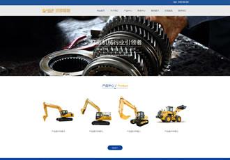响应式机械制造类织梦模板HTML5五金机械零部件网
