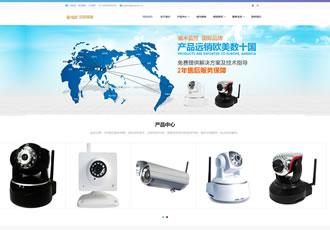 响应式智能科技监控探头类网站织梦模板HTML5智能