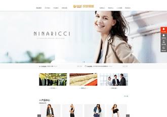 响应式服装连锁加盟店网站织梦模板HTML5品牌女装