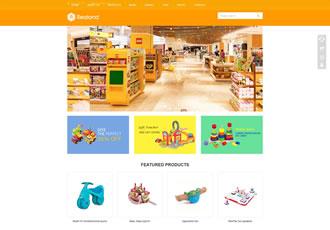 响应式食品百货英文外贸类网站织梦模板HTML5玩具外贸网站源码下载